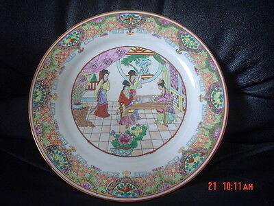 Authentic Hand Painted Chinese Ladies Decorative Collectors Plate New Boxed