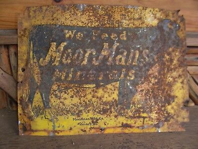 moormans minerals feed sign cow agriculture farming