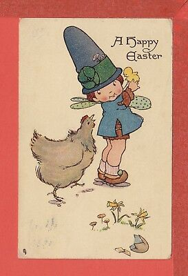 MABEL LUCIE ATTWELL Easter fairy and chics pb; TUCK no. 750 p/u 1914