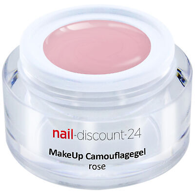 Premium XL Camouflage UV Gel Make Up rose 15ml Aufbau Nagel Cover Aufbau rosa