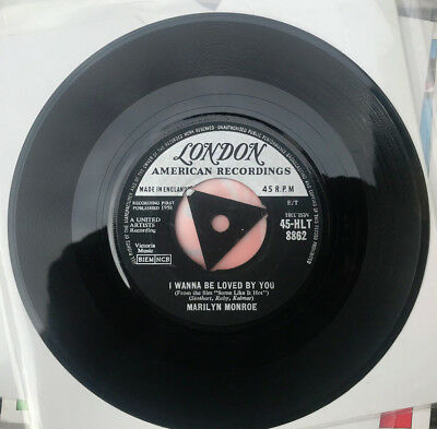 """Marilyn Monroe I Wanna Be Loved By You 7"""" Single 1958"""
