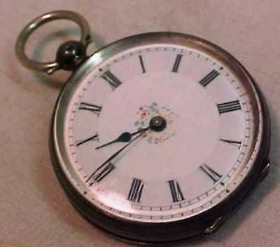 An Antique Pocket Watch - Key Wind - Attractive Silver (.800) Case - Not Working