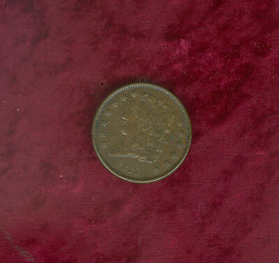 1835 Half Cent in Very Fine to Extra Fine