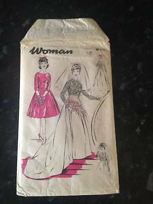 "Vintage ""Woman"" Bride and bridesmaid dress pattern 1960s W436"