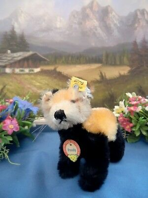STEIFF PANDY INDIAN RED PANDA BEAR 10 cm Button Flag Tag only 1963-64 VGC