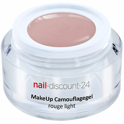 Premium XL Camouflage UV Gel Make Up rouge light 15ml Aufbau Nagel Cover Aufbau