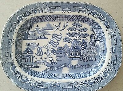 Spode Willow Pattern Large Oval Plate