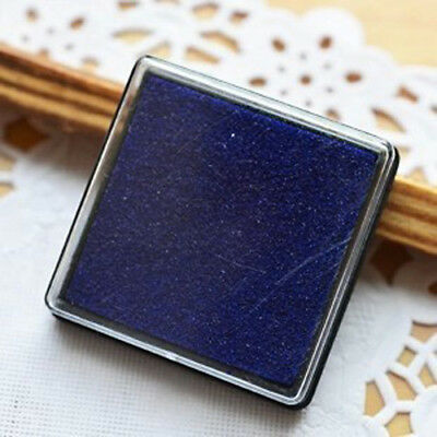 Navy Blue Little Inkpad Stamp Pad Ink Stamp Couples 4x4cm Square Candy Colors