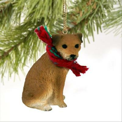 Border Terrier Dog Tiny One Miniature Christmas Holiday ORNAMENT
