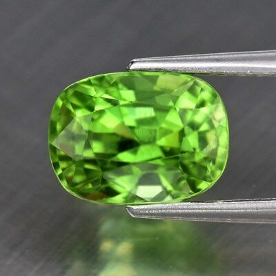 VS Clean! 2.39ct 8.3x6mm Cushion Natural Untreated Green Peridot, Pakistan