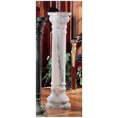 "Greek Style 40"" White Stand Solid Marble Column Pedestal Sculpture Plant Holder"
