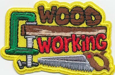 Girl Boy cub WOOD WORKING Crafts Fun Patches Crests Badges SCOUTS GUIDE Project