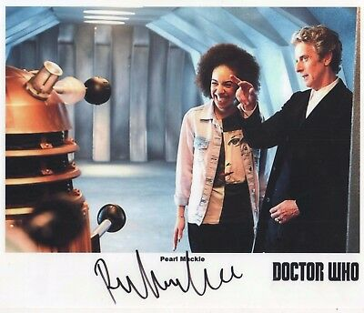 "Doctor Who Auto Photo Print Pearl Mackie ""Bill"""