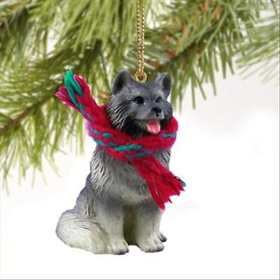 Keeshond Dog Tiny One Miniature Christmas Holiday ORNAMENT