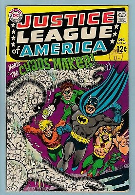 JUSTICE LEAGUE OF AMERICA # 68 FN- (5.5) GLOSSY MID GRADE - MOVIE - 99p START