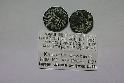 India Kashmir Staters From Queen Didda 979-1003Ad Nice Details A60 Cg8