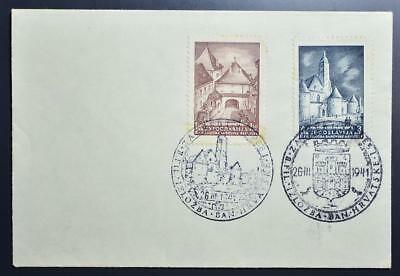 CROATIA NDH 1941 Cpl Stamp EXPO Buildings Set on Expo Cover/FDC , Yugoslavia