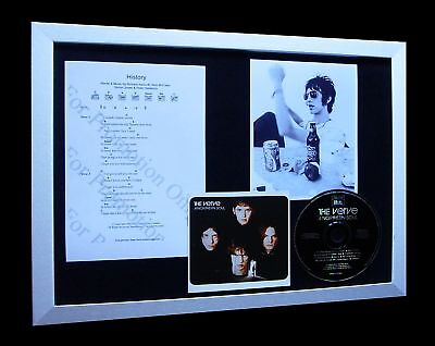 THE VERVE History LIMITED Numbered CD FRAMED DISPLAY+EXPRESS GLOBAL SHIPPING!!