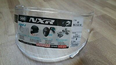 Shoei NXR CWR-1 visor clear new unused with protective film on outside