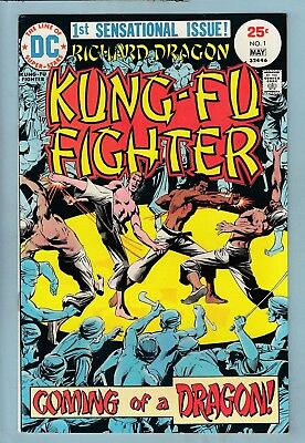 RICHARD DRAGON KUNG-FU FIGHTER # 1 VFN (8.0) 1st APPEARANCE - CENTS- DC- 50% OFF