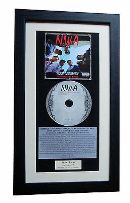 NWA Straight Outta Compton CLASSIC CD TOP QUALITY FRAMED+EXPRESS GLOBAL SHIP