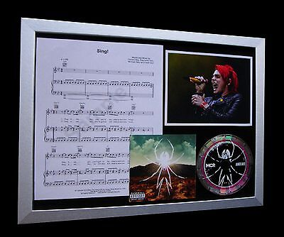 MY CHEMICAL ROMANCE Sing LIMITED Numbered CD FRAMED DISPLAY+FAST GLOBAL SHIPPING