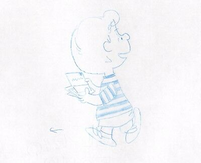Peanuts Schroeder Original Production Animation Cel drawing 1975 WITH DIALOGUE