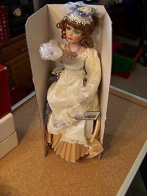 """Collections, Etc. porcelain doll lamp 19"""" w/ box light-up`"""