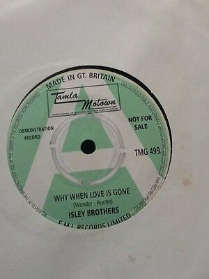 """Isley Brothers Why When Love Is Gone/my Love Is Your Love  Double """"a """"side"""