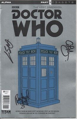 Doctor Who The Lost Dimension Comic No.1 Cover A Auto by 1 Artist & 2 Writers