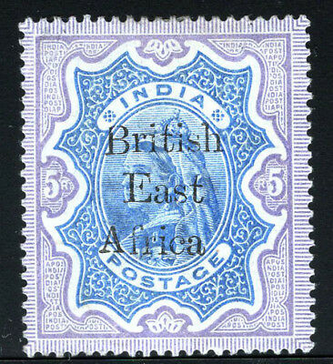 British East Africa Stamps 1895 5R Overprinted (SG 63) Mint £150