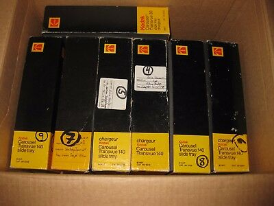 KODAK CAROUSEL TRANSVUE 140 SLIDE TRAYS Lot Of 6