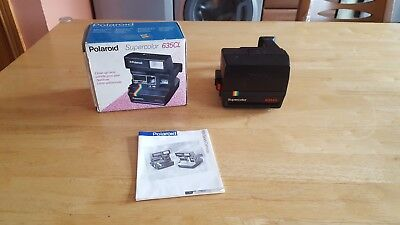 POLAROID 635 CL SUPERCOLOR INSTANT CAMERA. Comes Boxed with Instruction Booklet.