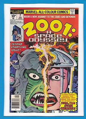 2001:A SPACE ODYSSEY #2_JANUARY 1977_NM MINUS_2nd STARTLING ISSUE_JACK KIRBY_UK!