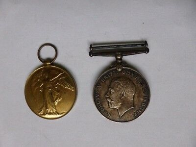 Pair Of Ww1 Medals - War & Victory - Royal Artilary