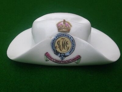 Rare Crested China MILITARY R. HORSE GUARDS HAT