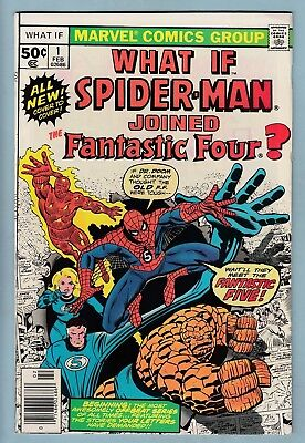 WHAT IF # 1 FNVF (7.0)  SPIDER-MAN JOINED THE FANTASTIC FOUR? - CENTS- 99p START