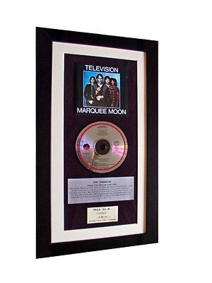 TELEVISION Marquee Moon CLASSIC CD Album QUALITY FRAMED