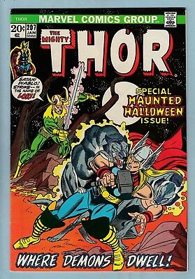 Thor # 207 Vfn+ (8.5) Leads Into Avengers/defenders War- Glossy High Grade_Cents