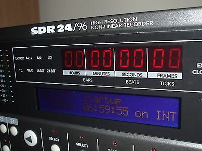 Mackie SDR 24/96 Recorder With NEW External Drive Caddy - In Good condition