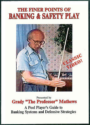 Grady Mathew's The Finer Points of Banking & Safety Play DVD - Shots & Strategy!