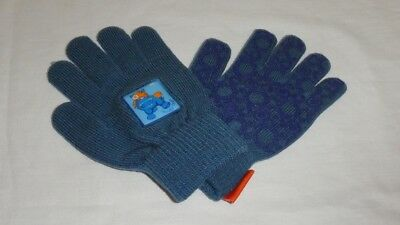 COTTAGE CRAFT Knitted Magic Gloves, Blue, Grippy Palm