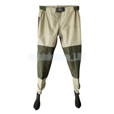 Light-Weight Fishing Waders Breathable Waterproof Stocking Foot Trousers M