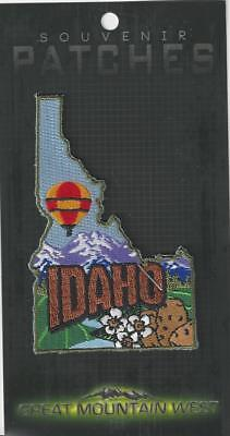 Colorful State Of Idaho Souvenir Patch