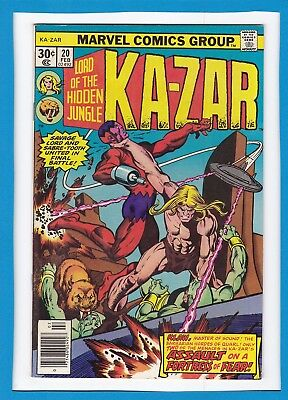 "Ka-Zar #20_February 1977_Very Fine+_""assault On A Fortress Of Fear""_Bronze Age!"