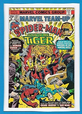 Marvel Team-Up #40_Dec 1975_Very Fine+_Spider-Man_Sons Of The Tiger_Human Torch!