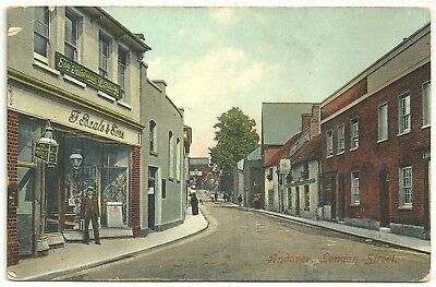 Hants postcard Andover London Street