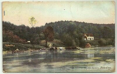 Worcs postcard Bewdley On the Severn