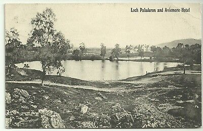Ross postcard Loch Paladeron and Aviemore Hotel