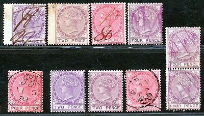 CAPE OF GOOD HOPE VICTORIA 1870's REVENUES FINE USED LOT.  A29